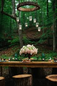 table decor for weddings. Outdoor Woodland Wedding Reception Decor Table For Weddings