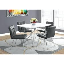 dining table with chairs that fit under monarch dining table white with chrome metal table only