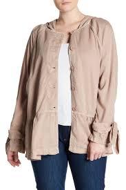 Nordstrom Rack Plus Size Coats SUSINA Tie Sleeve Utility Trench Jacket Plus Size Nordstrom Rack 49