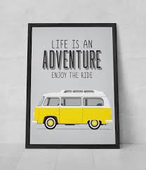 Vw Quote Adventure Quote Print VW typography quote Adventure poster 28