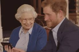Image result for her majesty the queen laughing gif