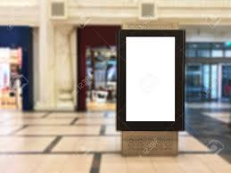 Digital Light Box Empty Indoor Portrait Digital Signage Light Box With Blurred