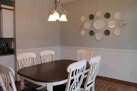 best ideas of dining room interiordesign with set of table and chair under bell shade chandeliers also luring wall decorating of plates