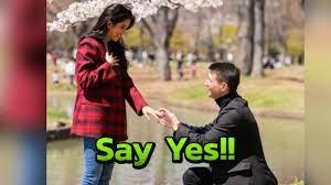 กรี๊ด ปู ไปรยา สละโสด แมทธิว คุกเข่าขอแต่งงานท่ามกลางดอกซากุระ