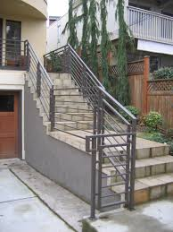 railings exterior stairs ace iron works exterior stair railings