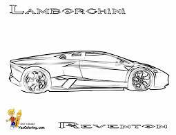 lamborghini reventon coloring pics side view at yescoloring