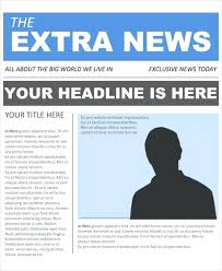 Newspaper Front Template Front Page Of A Newspaper Template Metabots Co