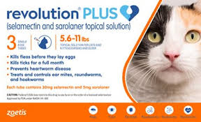 Revolution Plus Topical Solution For Cats 5 6 11 Lbs 3 Treatment Orange Box