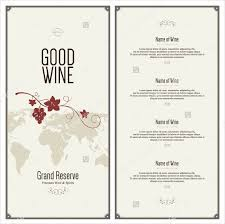 Free Food Menu Template Mesmerizing Wine Dinner Menu Template Free Wedding Food Menu Template Free
