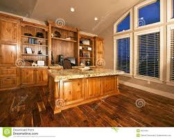 office wood. Spacious Home Office With Wood Floors Stock Photo L