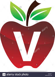 Letter V Templates Apple Letter V Logo Design Template Vector Stock Vector Art