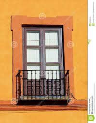 Window in spanish Stained Glass Door With Tiles And Orange Painted Window Homedit Spanish Old Wood Window Stock Photo Image Of Balcony 36399100