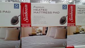 heated mattress pad costco. Exellent Heated Stay Warm And Cozy With The Sunbeam Premium Heated Mattress Pad Queen Intended Costco N