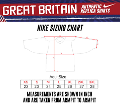 Nike Nhl Jersey Size Chart Great Britain Mens Authentic Nike Jersey 2019