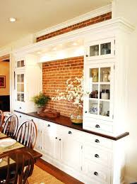 i like the built in dining room hutch and cabinets with exposed stone houzz small dining room cabinets built
