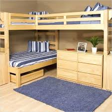 double loft bed plans a collection of great wood l shaped bunk beds with incredible space