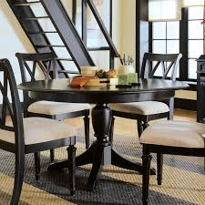 Modern Round Kitchen Table White Leather Of The Dining Chairs - Dining room cabinets for storage
