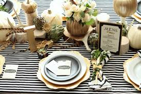 black white and gold thanksgiving table