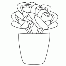 Small Picture Flower Pot Coloring Page Coloring Home
