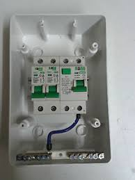 2 way garage home caravan consumer unit box 40a 30ma rcd 2 mcb image is loading 2 way garage home caravan consumer unit box