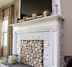 DIY faux fireplace - holy moly this is so doable and we have the fireplace  this