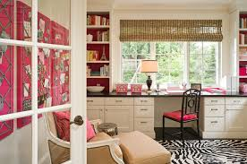 pink home office. Graciela Rutkowski Interiors Pink Home Office