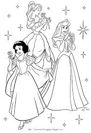 Disney Princesses Coloring Pages Free Printable Coloring Beautiful