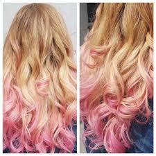 Super Fun Blonde To Pink Ombré