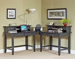 Corner Computer Desk With Unique Lighting And Black Finish