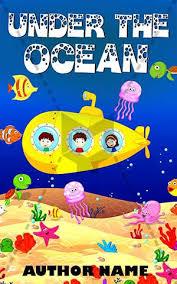 children book cover design under the ocean front