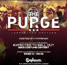 Lumber Jack <b>Purge</b> Costume <b>Party</b> – Tickets – The Orpheum ...