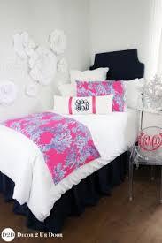 lilly pulitzer bedspread. Brilliant Lilly Lilly Pink U0026 Blue Coral Designer Dorm Bedding Set For Pulitzer Bedspread N