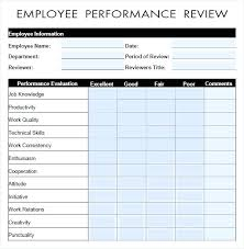 Free Evaluation Templates Employee Performance Review Form Template Free Templates Evaluation