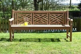 oxford teak garden bench 4 seater 1 8m