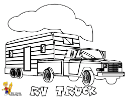 Free Coloring Pages For Boys Trucks With Trailers Startling Pictures