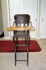 antique victorian childs wood high chair adjustable antique high chairs wooden