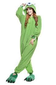 NEWCOSPLAY Unisex <b>Adult Michael</b> Wazowski <b>Pajamas</b> Costume ...