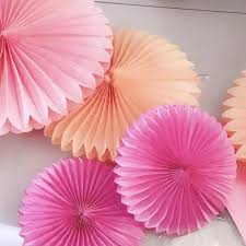 Flower Paper Craft 4 12 Decorative Paper Flower Paper Crafts Paper Fans Diy Hanging Fans For Wedding Birthday Party Baby Shower Festival D Party Supplies Kids Party