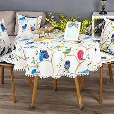 qiao jin tablecloth large round tablecloth tablecloth pad waterproof and oil proof disposable small round table cloth household color b size round 150cm