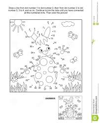 Dot To Dot And Coloring Page With Bunny And Egg Stock Vector