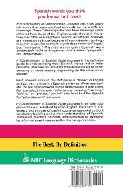 Ntcs Dictionary Of Spanish False Cognates Marcial Prado