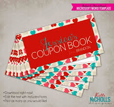 Valentines Day Printable Customized Coupon Book Gift For