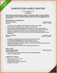 Babysitter Resume Sample Template Gorgeous Babysitting Bio Sample Musiccityspiritsandcocktail
