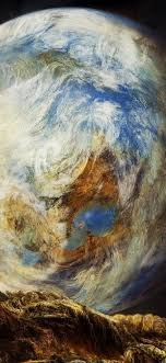 Wallpaper Earth and moon, art pictures ...