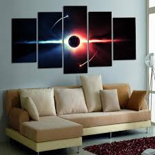 Wall Paintings Living Room 5 Panels Airplane Canvas Painting Print Quadro Home Decor Cuadros