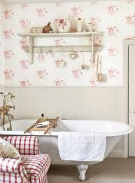 Cabbage Rose Wallpaper - Pink Bathroom ...