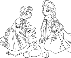 Small Picture Elsa anna olaf coloring pages ColoringStar