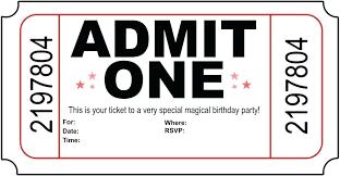 Concert Invite Template Movie Ticket Invitation Template Free Printable Raffle