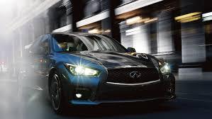 infiniti q50 exterior. 2017 infiniti q50 sedan exterior hagane blue front fascia with led signature autoleveling e