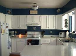 blue and white kitchen cabinets blue wall color with classic white kitchen cabinet for elegant kitchen